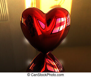 red love 3D heart