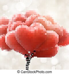 Red love balloons. EPS 10