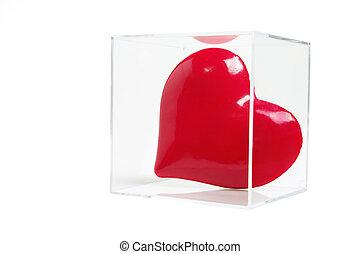 Red Love Heart in Plastic Box