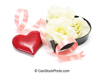 Red Love Heart with Gift Box
