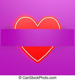 Red love shape