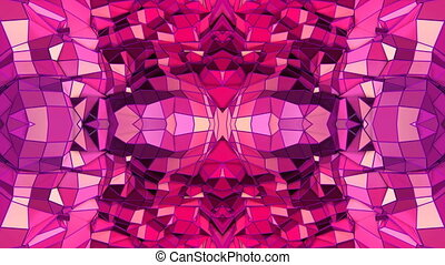 red low poly geometric abstract background as a moving...