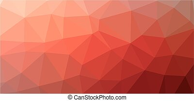 Red Low polygon background