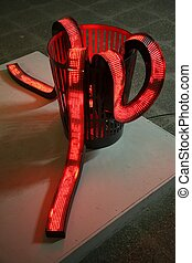 red luminous tape in the basket