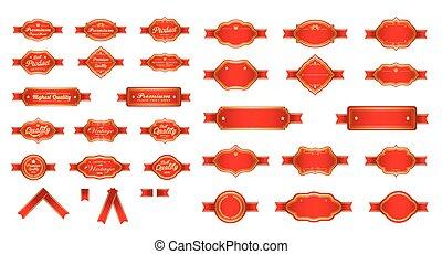 Red luxury premium labels