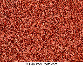 Red macadam floor - A red macadam pavement texture