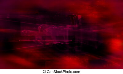 Red magenta geometric loop CG abstract animated background