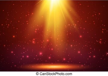 Red magic top light vector background