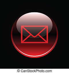Red mail button sign