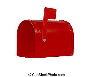 red mailbox - empty