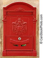 mailbox - red mailbox