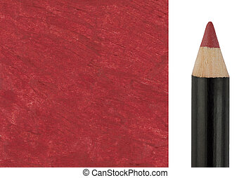 Red Makeup pencil with sample stroke