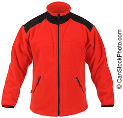 red male sport jacket isolated on white