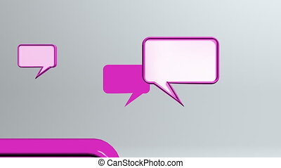 red many conversation icons