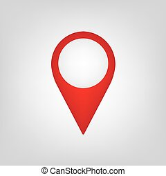 red map pin icon