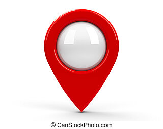 Red map pointer blank - Red map pointer with blank center...