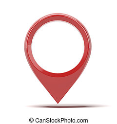 Red Map pointer icon