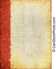 Red Margin Screen Pattern - A vintage cloth book cover with...
