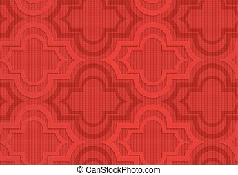 Red Marrakesh on checkered background