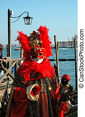 Red mask at Carnival of Venice 2011