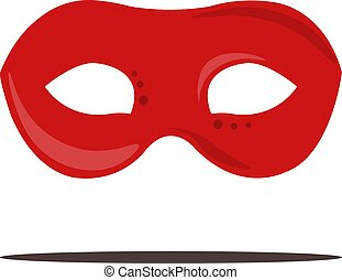 Red mask, illustration, vector on white background.