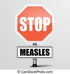 red measles Stop Sign