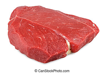 red meat - a beef cut isolated on white