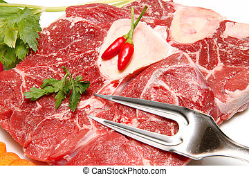 red meat with vegetables
