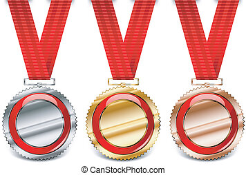 Red medal collection