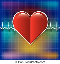 Red medical heart icon.