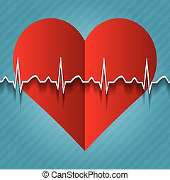Red medical heart icon.vector .
