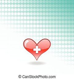red medical heart