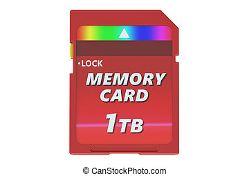 red memory card 1TB