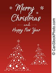 Merry Christmas and Happy New Year poster design