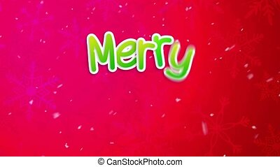 Red Merry Christmas Greeting Art Paper Card