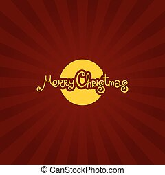Red Merry Christmas Vintage Background Typography. Vector