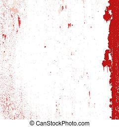 Red Messy Grunge