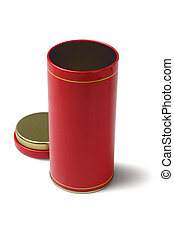Red Metal Container