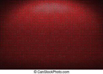 Red Metal Grating
