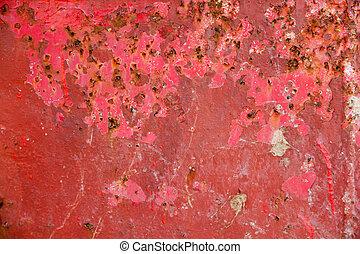 Red metal grunge background