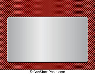 Red Metal plate background