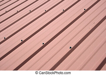 metal roof background - red metal roof background with...
