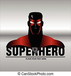 RED METALIC SUPERHERO - Superhero head with the red metallic...