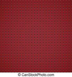 Red metallic background.
