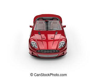 Red metallic sports car convertible