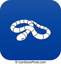 Red milk snake icon blue vector