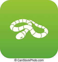 Red milk snake icon green vector