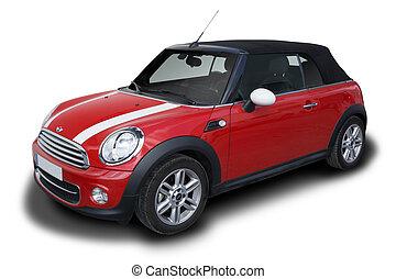 Mini Cooper - Red Mini Cooper Convertible car parked...