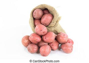 Red mini potatoes - horizontal orientation.