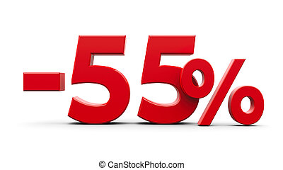 Red minus fifty five percent